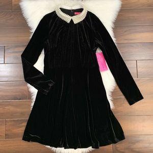 Betsey Johnson Fit & Flare Velvet Dress